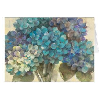 Hortensia de turquoise carte de vœux