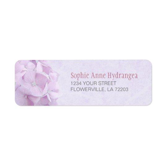 Hortensia en pastel FlowersLabels Étiquettes D'adresse Retour