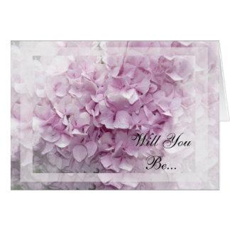 Hortensia rose mol vous serez ma carte de