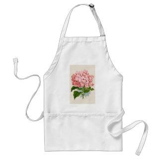 Hortensia rose vintage tablier