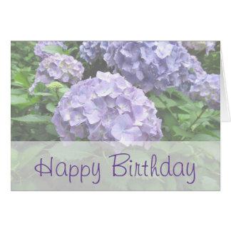 Hortensias en pastel à la carte d'anniversaire de