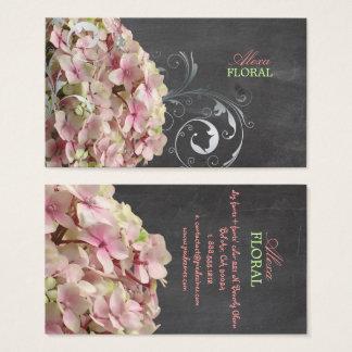Hortensias roses de PixDezines, fleuristes/tableau Cartes De Visite