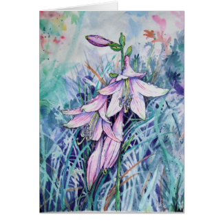 Hosta en fleur carte de vœux