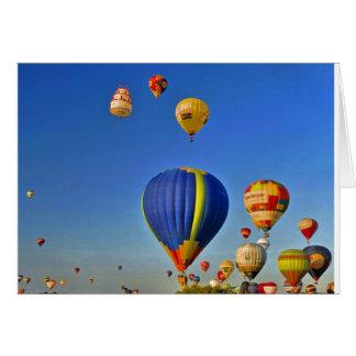 Hot d'air balloons Card Carte De Vœux