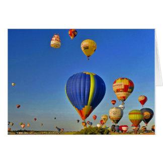 Hot d'air balloons carte de vœux