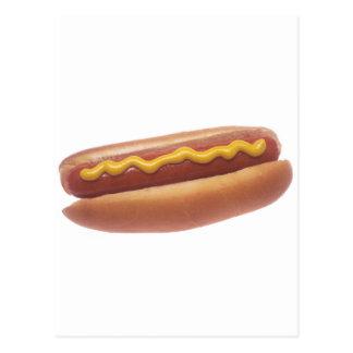 Hot-dog avec de la moutarde carte postale