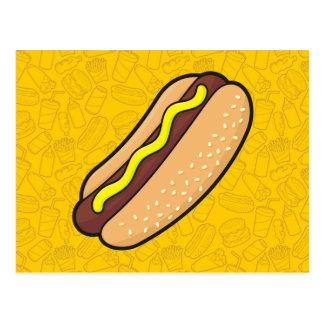 Hot dog carte postale