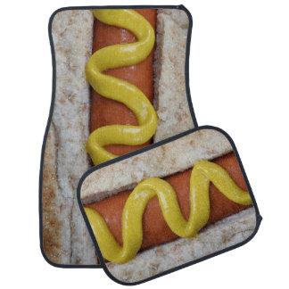 hot-dog délicieux avec la photographie de moutarde tapis de voiture