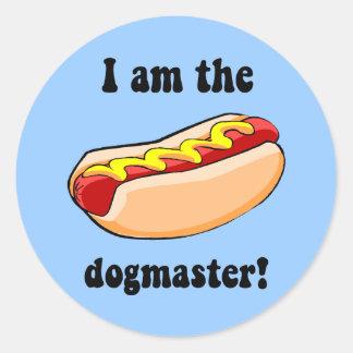 Hot dog drôle sticker rond