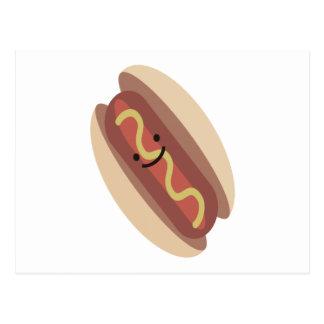 Hot-dog mignon de Kawaii Carte Postale