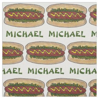 Hot-dog nommé personnalisé avec le tissu de