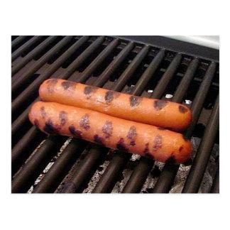 Hot-dogs grillés carte postale