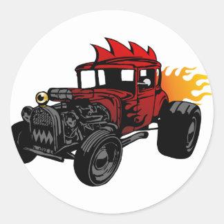 Hot rod 00073 sticker rond