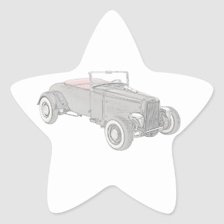 Hot rod 1931 de Ford Autocollants En Étoile