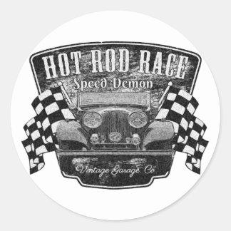Hot rod coudé sticker rond