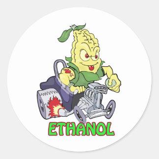 Hot rod d éthanol autocollant rond