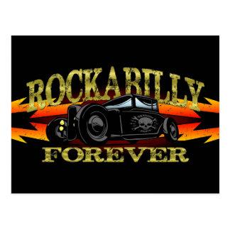Hot rod de rockabilly de graisseur carte postale