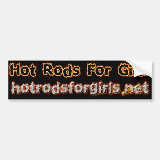 Hot rod pour l'adhésif pour pare-chocs de filles autocollant pour voiture