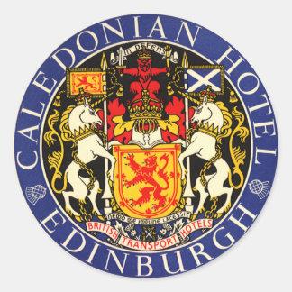 Hôtel calédonien Edimbourg Ecosse de voyage Autocollants Ronds