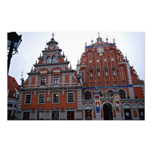 Hôtel de ville majestueux Riga, Lettonie Impression Photo