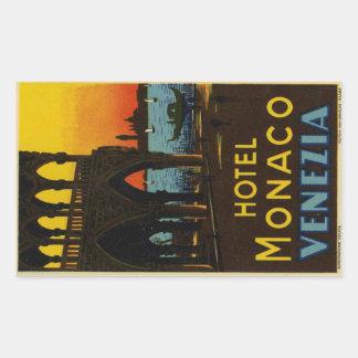 Hotel Monaco Venezia Sticker Rectangulaire