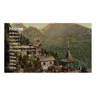 Hôtel Rosa dans le grand Kohlbacherthal, Tatra, Au Modèles De Cartes De Visite