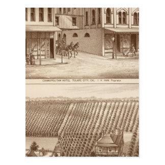 Hôtel, vignoble, Tulare Carte Postale