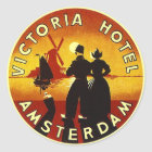 Hôtel vintage Amsterdam des autocollants Vi de