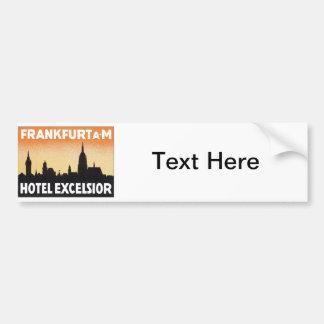 Hôtel vintage de Francfort Allemagne Autocollant Pour Voiture