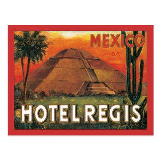 Hôtel vintage du Mexique Carte Postale