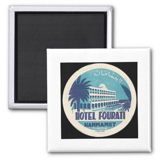 Hôtel vintage Fourati Hammamet de la Tunisie Magnets Pour Réfrigérateur