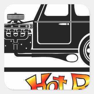 hotrod sticker carré