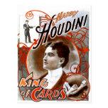 Houdini - roi des cartes cartes postales