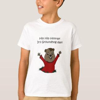hourra son T-shirt de jour de Groundhog