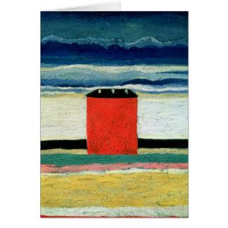 House rouge, 1932 carte de vœux