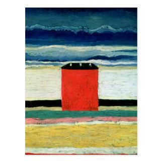 House rouge, 1932 carte postale