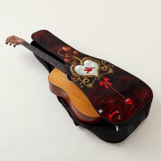 Housse De Guitare Coeur merveilleux avec la colombe