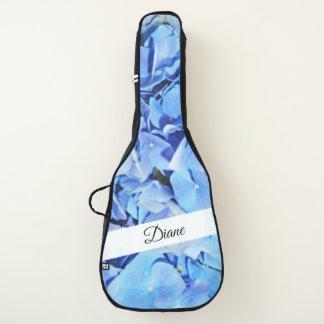 Housse De Guitare Hortensia bleu personnalisé