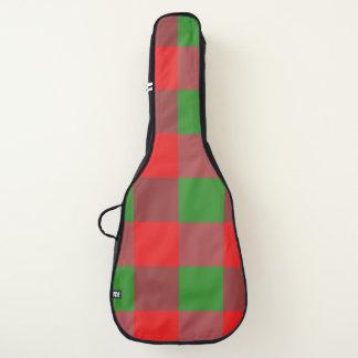 Housse De Guitare Motif de contrôle de Noël de plaid de Buffalo,