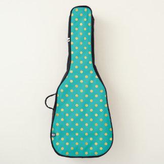 Housse De Guitare Pois élégant - menthe et Or