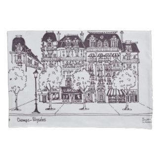 Housse D'oreillers Champions Elysees de l'architecture   de Haussmann
