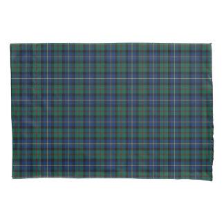Housse D'oreillers Clan plaid écossais vert et bleu de MacLeod