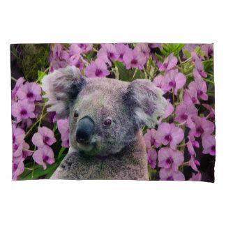 Housse D'oreillers Koala et orchidées