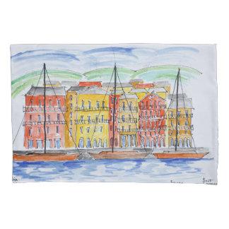 Housse D'oreillers Port, Bastia   Corse, France
