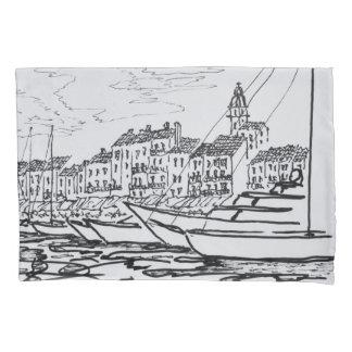 Housse D'oreillers Port   la Côte d'Azur, France de Saint-Tropez