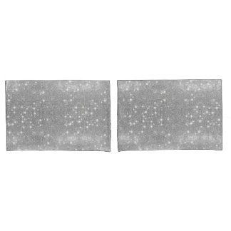 Housse D'oreillers Regard métallique de parties scintillantes en