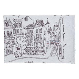 Housse D'oreillers Scène   Grasse, France de musée et de rue de