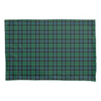 Housse D'oreillers Tartan vert et bleu d'écossais de clan de MacKay