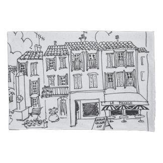 Housse D'oreillers Village médiéval de Biot, France