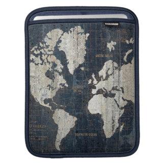 Housse iPad Bleu de carte de Vieux Monde